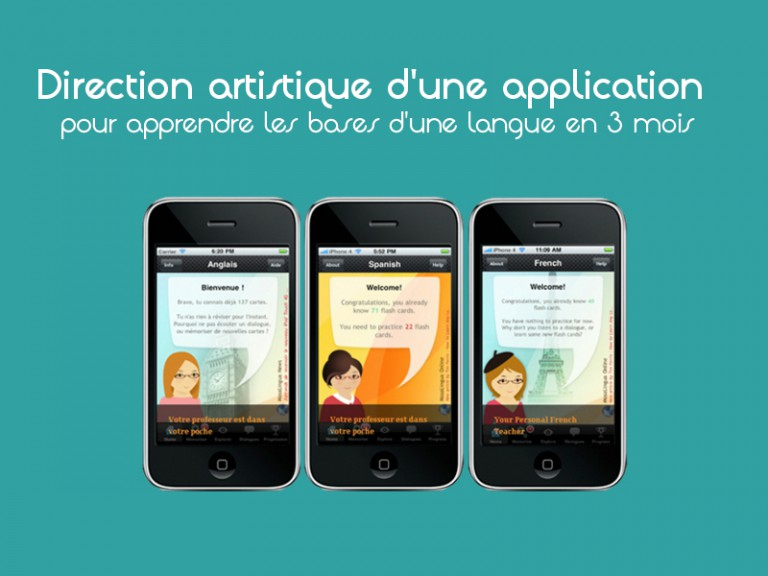 Graphisme application smartphone et tablette