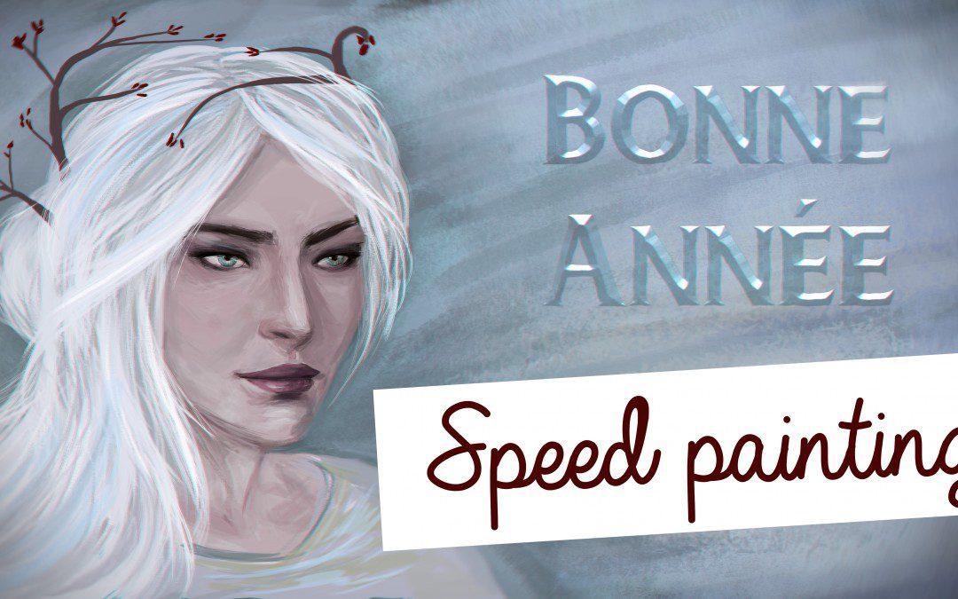 Bonne année en speed painting