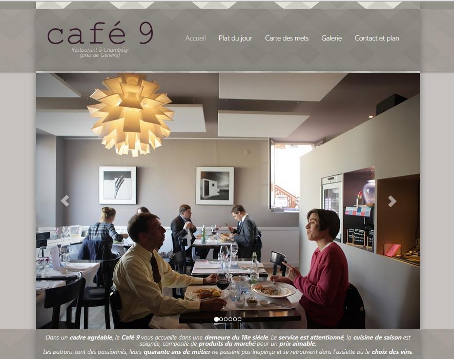 Site vitrine restaurant Café 9