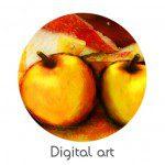 pomme digital art
