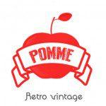 pomme rétro vintage